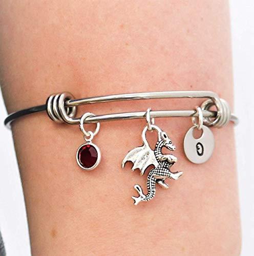 Dragon Bangle Bracelet - Silver Dragon Gifts for Girls...