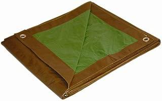 5x7 Multi-Purpose Brown/Green Medium Duty DRY TOP Poly Tarp (5'x7')