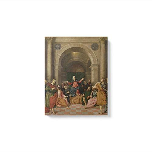 haiyilan Leinwand Poster Bild Für Kinder Poster Artwork Wandkunst Leinwand Pfingsten Caravaggios Meisterwerk Drucken Malerei Leinwand Ohne Gerahmt Farbfigur Drucken Sie Wandkunst Leinwand Abstrakt