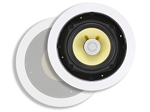 Best Buy! Monoprice 2 Way In-Wall Speakers - 5.25 Inch (Pair) With Snap-Lock, Aramid Fiber And Titan...