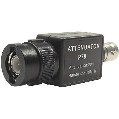 P78 20: 1 Attenuador de señal 10MHz Accesorios de osciloscopio de ancho de banda BNC Adaptador HT201 Versión de actualización