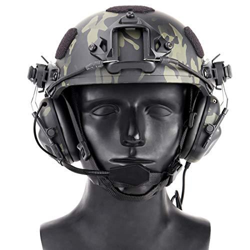 GODNECE Helm Headset Airsoft, Upgrated Headset Taktisch Headset Militär Helm WST Gen.5 Jagd Headset Rauschunterdrückungs Headset HD-11