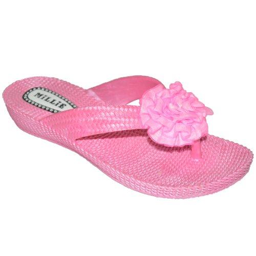 Golf Coast Pink Dicke Sohle Gummi Flip Flop, Pink - Rose - Größe: 38.5