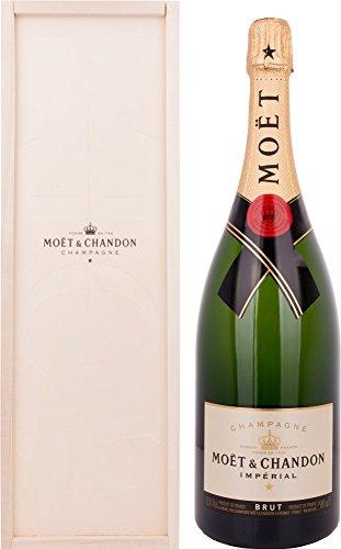 Moet & Chandon Imperial Brut Champagne Magnum sous Coffret Bois 1,5 L