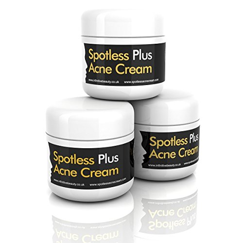 Spotless Plus Spot Ultra Clear Acne Cream (3 Tubs x 50g) by Spotless