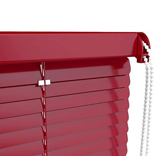 HWF Veneziane Tende Veneziane in Alluminio Vino Rosso 60cm / 80cm / 100cm / 120cm / 140cm di Larghezza, Protezione da Luce e Abbagliamento, Kit di Montaggio Incluso (Size : 140x160cm)