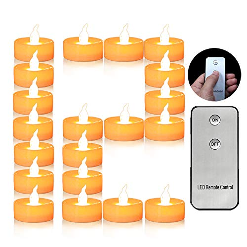 12pcs Flameless Candle Tea Lights with Remote Control CR2450 Long Lasting Battery Operated 120 Hours+ Flickering LED Tea Light Candles for Wedding,Halloween Christmas Festival Party Decoration