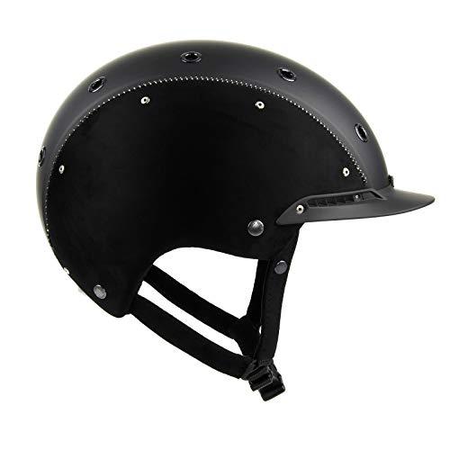 Casco Champ 3 Nubuk Reitkappe schwarz Reithelm mit Helmbox 56-58 cm (M)