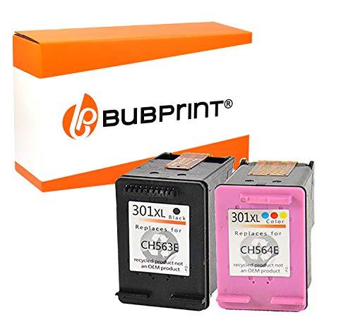 Bubprint 2 Druckerpatronen kompatibel für HP 301 XL 301XL für DeskJet 1000 1050 1510 2050 a 2510 2542 2544 2545 3050 3055a Envy 4507 5530 Multipack