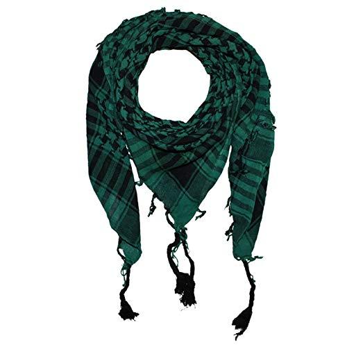 Freak Scene Kufiya - Keffiyeh - tejido basico verde - negro - 100x100 cm - Pañuelo palestino de Arafat - PLO Pali chal - 100% algodón