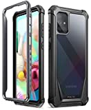 POETIC Guardian Series Case Compatible with Galaxy A71 4G, [NOT FIT Galaxy A71 5G Version] Full-Body Hybrid Shockproof Bumper Cover with Built-In-Screen Protector, Black/Clear