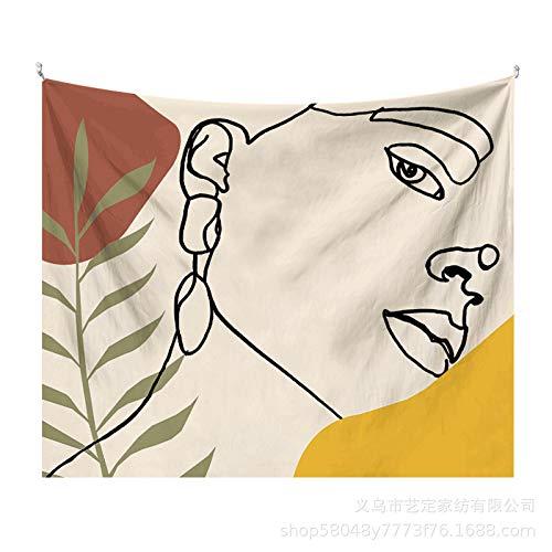 CNYG Tapiz de Hoja Simple Morandi Fondo literario Tela Decoración de Pared Tela de decoración artística Morandia-8 2x1.5M(Más Cachemir