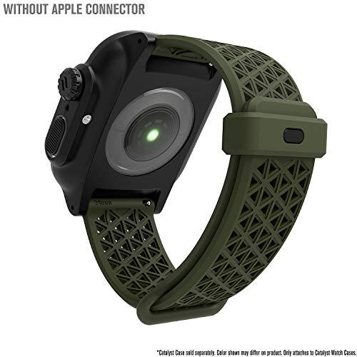 Catalyst Sport Band per Apple Watch Series 4-44mm-, Serie 3,2,1-42mm-, Ipoallergenico, Traspirante, Sgancio rapido, Compatibile con Le Casse, connettori per Altre Marche Non Incluse, Verde
