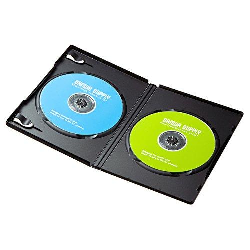 サンワサプライ DVDトールケース(2枚収納) ブラック 30枚セット DVD-TN2-30BK