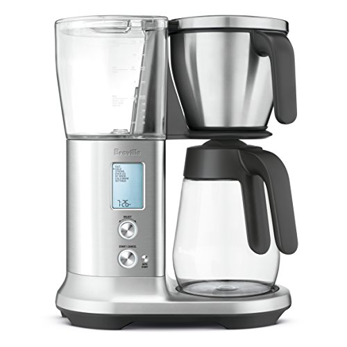 """Breville Precision Brewer Glass Coffee Maker, Brushed Stainless Steel, 12.4"""" x 6.7"""" x 15.7"""""""