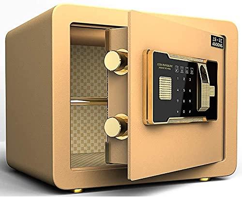 Seguridad Caja Fuerte Caja Fuerte Seguro Huella Digital Impermeable electrónica Digital combinación de combinación biométrica Segura con Sistema de Bloqueo de Huellas Dactilares Pared Caja Fuerte