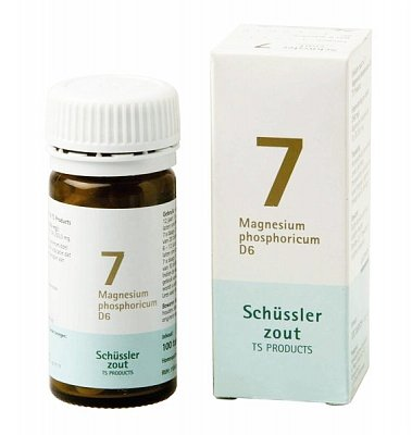 Sales de Schüssler Pflüger nr 7 Magnesium Phophoricum D6 | 100 tabletas | sin gluten