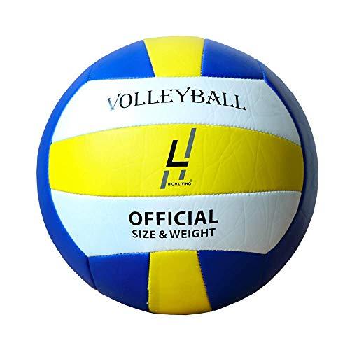 Highliving ® Volleyball aus synthetischem Leder, weich, für den Innen- und Außenbereich, Strand, Fitnessstudio, Größe 5