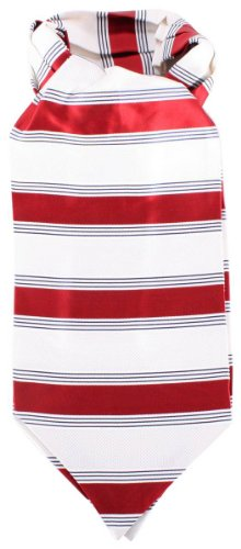 Knightsbridge Neckwear Red/Cream Striped Silk Cravates de