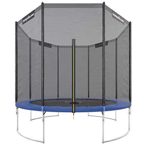 Ultrasport Trampolino da Giardino Starter, Set Completo Inclusi Tappeto Elastico, Rete di Sicurezza e Rivestimento dei Bordi Bambini, Blu, 305 cm