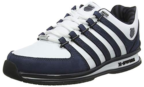 K-Swiss Herren Rinzler SP Sneaker, Weiß (White/Ombre Blue/Black 156), 41 EU