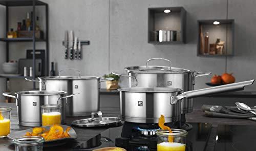 Zwilling 66380-001-0 Base- Batería de Cocina de Acero Inoxidable Mate, 4Piezas