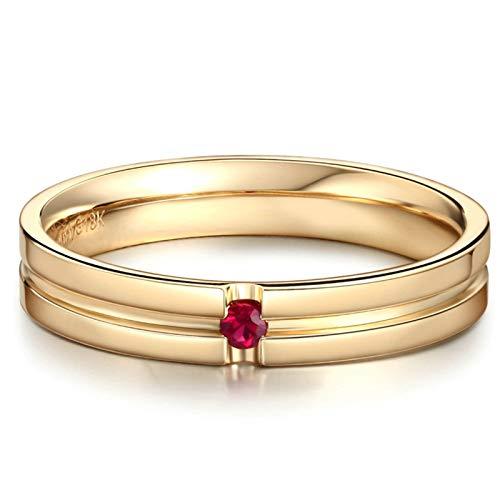 AmDxD oro amarillo 18 ct round-brilliant-shape Red Ruby
