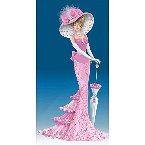 5D Diamond Painting Kit Full Drill - 5D DIY Diamond Painting Kit Dress Lady Full Round Drill Handicrafts (B436)