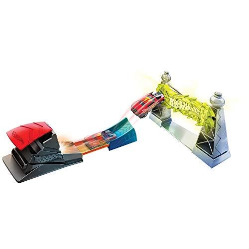 Hot Wheels Torre de electricidad, pista de coches de juguete (Mattel FTH80)...