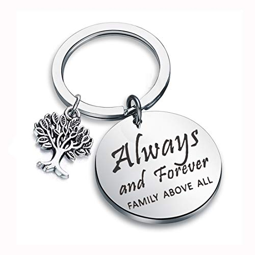 CENWA Family Tree Jewelry Always and Forever Family Above All Keychain The Originals Inspired Gift The Vampire Diaries Fans Gift TV Shows Inspired Gift (always and forever K)