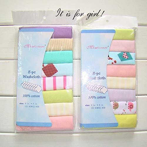 Tivivose 8pcs / Pack de algodón bebé recién Nacido Toallas Toalla de la Saliva de la Toalla de enfermería Muchachas de los bebés de Bebe Toalha Toallita pañuelo de Tela Wipes Toallas