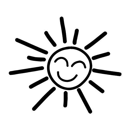 Coches y Motos Etiqueta engomada de la decoración del Cuerpo de la Ventana del Coche de la Pared del palillo de la Pared del Sol de la Historieta (17x15cm) (Color : 1)