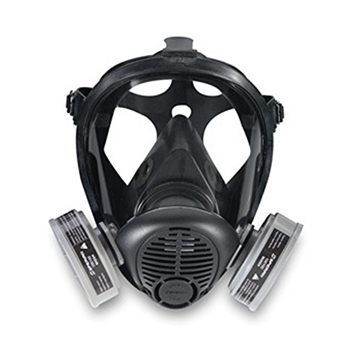 Sperian 420079 Survivor 4000 Series SU Full Facepiece Silicone Reusable Respirator, Medium/Large,...