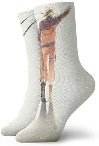 v-kook-v Herren Crew Socken Naruto Back Painting Compression Socks Lässige Laufsocken mit Kissen