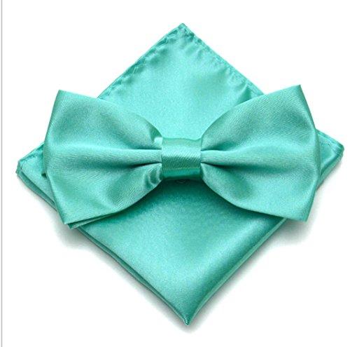 WS WS FLIEGE + EINSTECKTUCH SET Herren Hochzeit Konfirmation Anzug Krawatte (aqua)