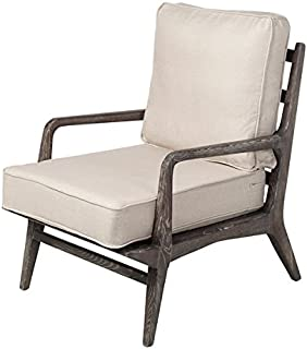 Murphy Upholstered Occasional Lounge Chair in Natural White