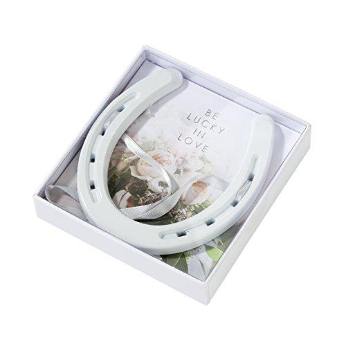 Talking Tables - Ferro di cavallo moderno, stile romantico, altezza 13,5 cm, colore: Bianco