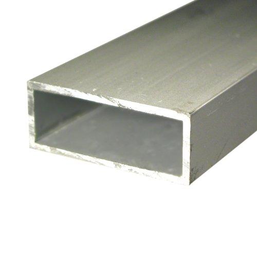 GAH-Alberts 472979 Rechteckrohr - Aluminium, natur, 1000 x 50 x 20 mm