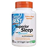 Doctor's Best Superior Sleep with Sensoril, Formula Contains Ashwagandha, 5-HTP, L-Theanine & GABA, 60 Count (Pack of 1)