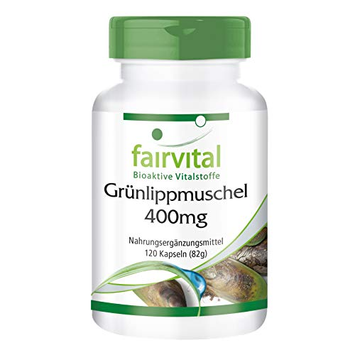 Grünlipp Muschel mit Grünlippmuschelextrakt, Ingwer, Yucca und Vitamin E, Monatspackung, 120 Kapseln