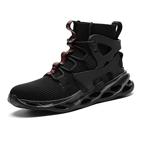 NAGT Botas con Punta de Acero para Hombres, Mujeres, Zapatos de Seguridad en el Trabajo indestructibles, Zapatillas de construcción Industrial,Negro,40