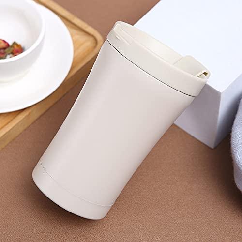 350ml Tazza Termica A Prova Di Perdita Riutilizzabile Tazza Di Caffè Facile Da Pulire Portatile All'aperto Ufficio Tazza Termos Caffè Tè-bianca