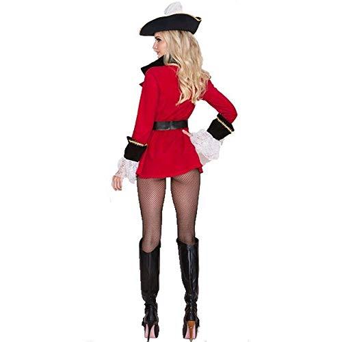 Fashion-Cos1 Disfraz de Halloween para Las Mujeres Crueles Mares del Caribe Capitán Disfraces de Piratas Adultos Cosplay del Vestido del Vestido de la Ropa del Carnaval