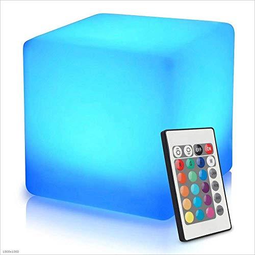 Romantik outdoor LED kubus kruk vloerlamp waterdicht IP65 lichten seat/bijzettafel/meubel 16 RGB kleuren en helderheid 4 Mood Light + outdoor decoratie slaapkamer party zwembad lsmaa