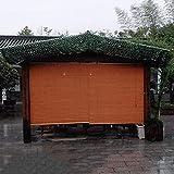 ZAQI Estores Enrollables Persiana Enrollable de bambú Impermeable, Estilo japones Persianas para Exteriores con Filtro de luz, Balcón Gazebo Pergola Roof Garden, 50 60 70 80 90100 Pulgadas de Largo
