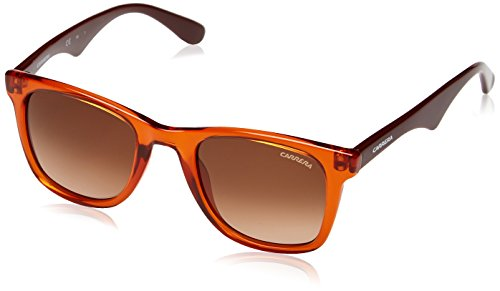 Carrera 6000/L, Gafas de Sol Rectangulares Unisex, Multicolor (Brick Burgundy), 50 mm