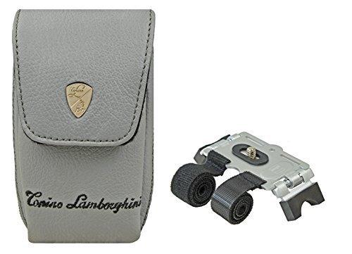 Fotos Juego Bolsa Lamborghini Piel para cámara con trípode para Manillar Bicicleta...