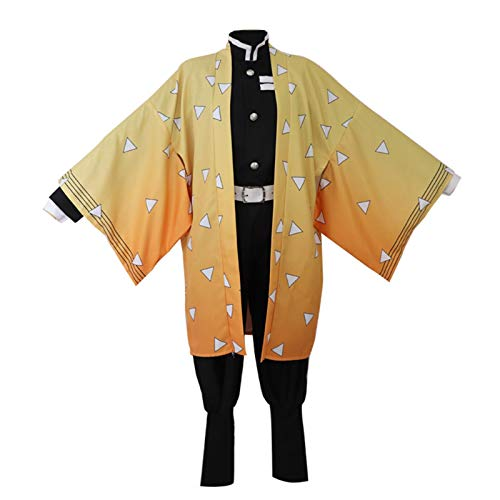 VENTDOUCE Disfraz de Cosplay Demon Slayer Tanjiro Kamado Nezuko Traje de Kimono de Anime japonés Ropa de Juego de Roles Unisex Traje de Kimono para Adultos Cosplayer Fans de Anime