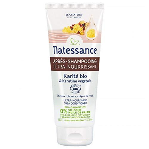 Natessance Après-Shampooing Ultra-Nourrissant Karité Bio et Kératine Végétale 200 ml