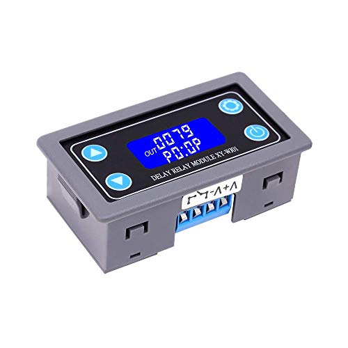 PEMENOL Timer Relay DC 12V 24V Time Delay Relay Controller Board Digital LCD Display Timer Switch Trigger Cycle Module for Smart Control